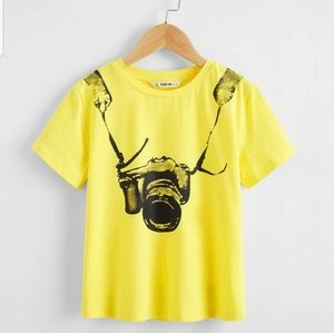 Other - Boys Round neck short sleeve print top